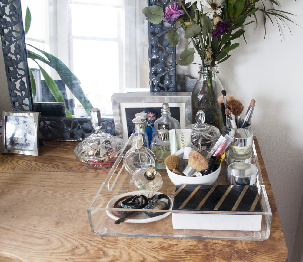 vanity styling vintage dresser
