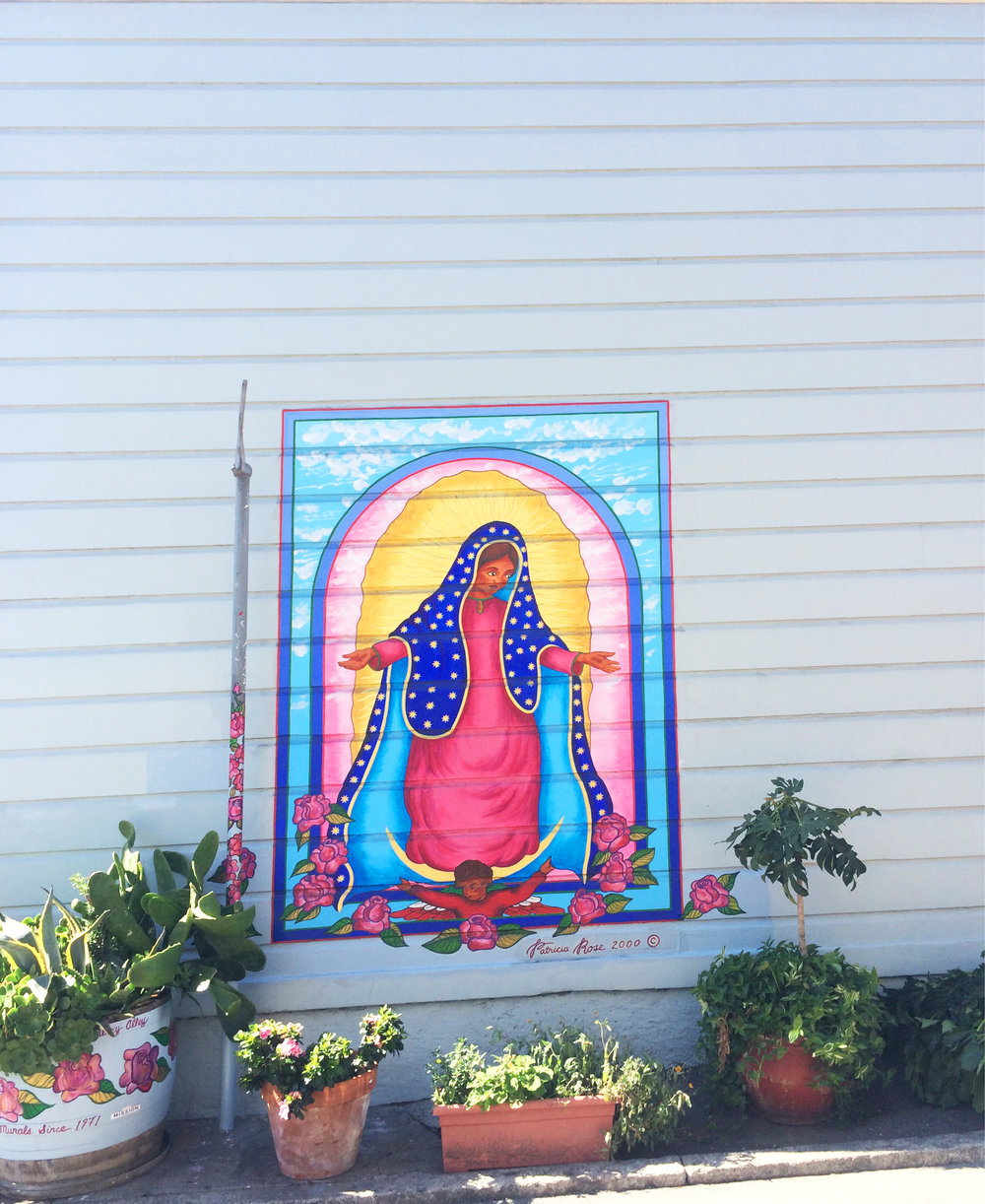 Mother Mary Street Art