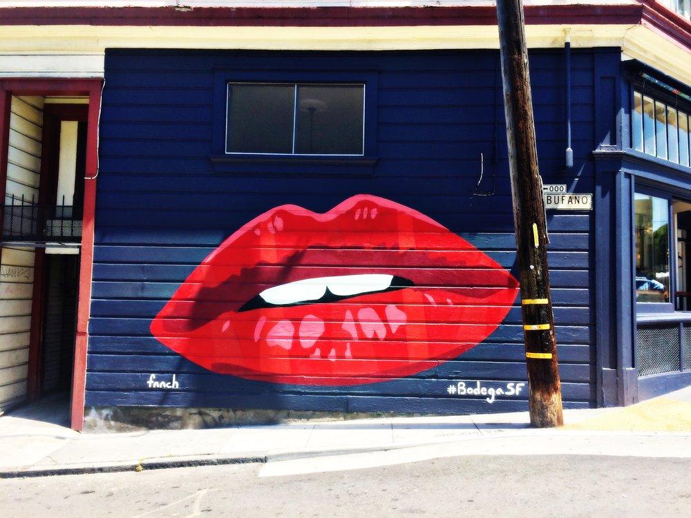 Lips Street Art SF Mural