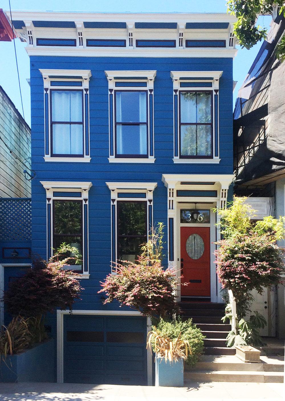 Blue house sf