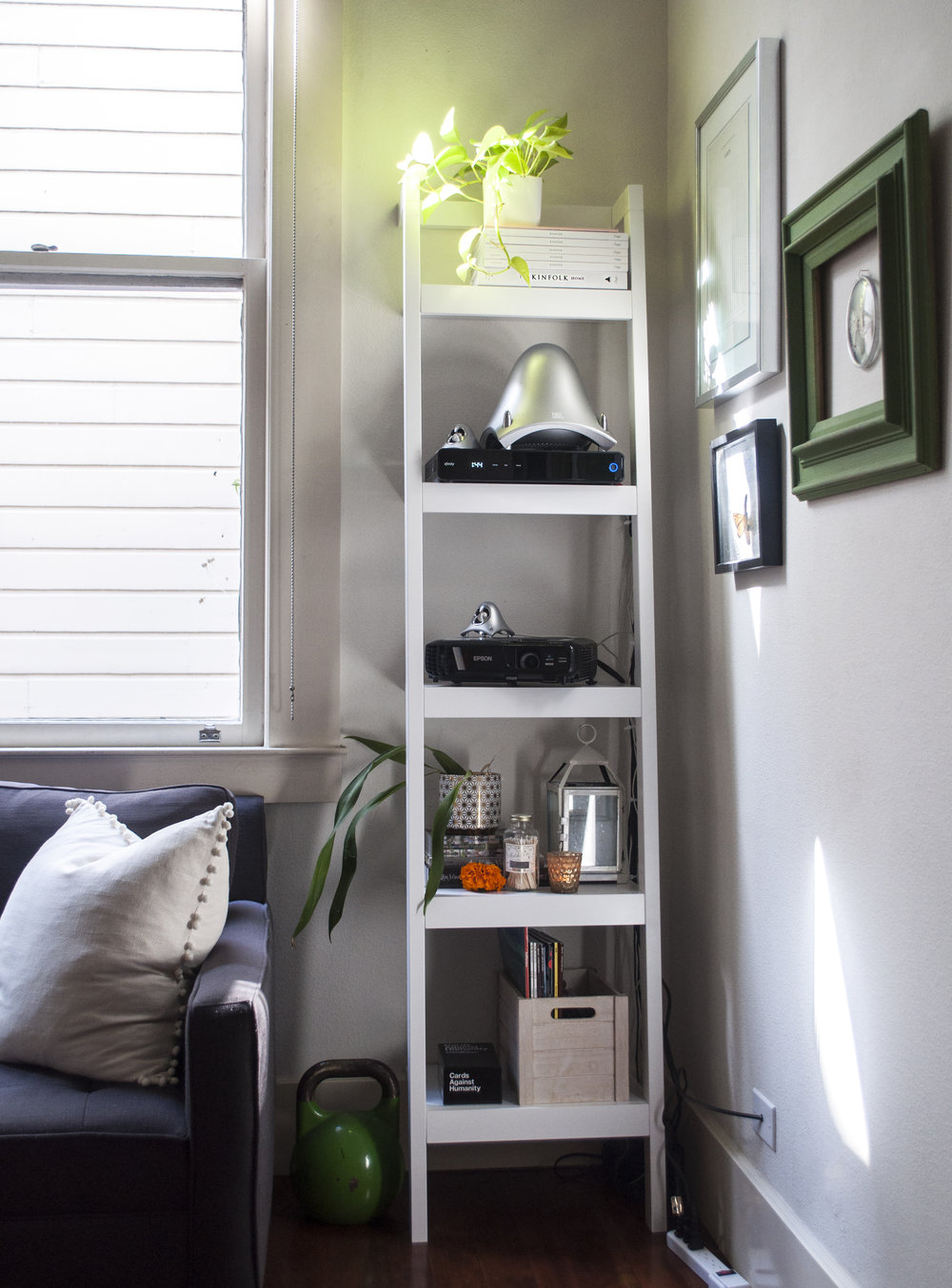 Crate and Barrel Bookshelf styling