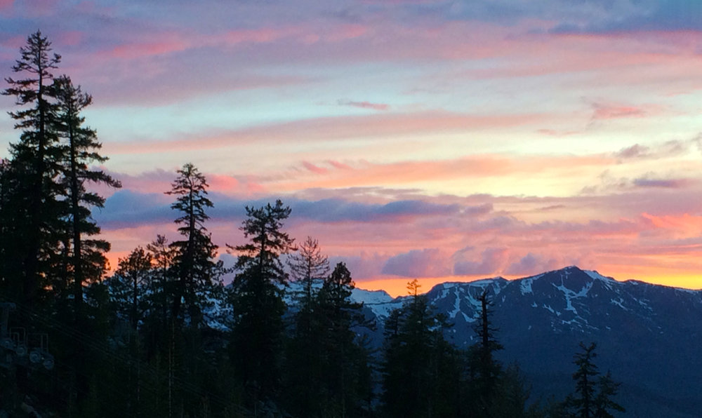 sunset over lake tahoe road trip packing list