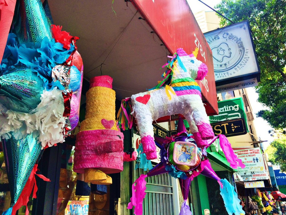pinatas in the mission san francisco street scenes