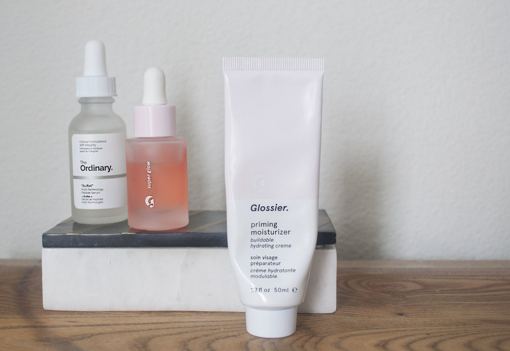 daily skincare glossier the ordinary