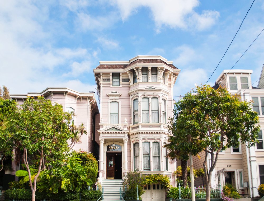 victorian pink house san francisco architecture