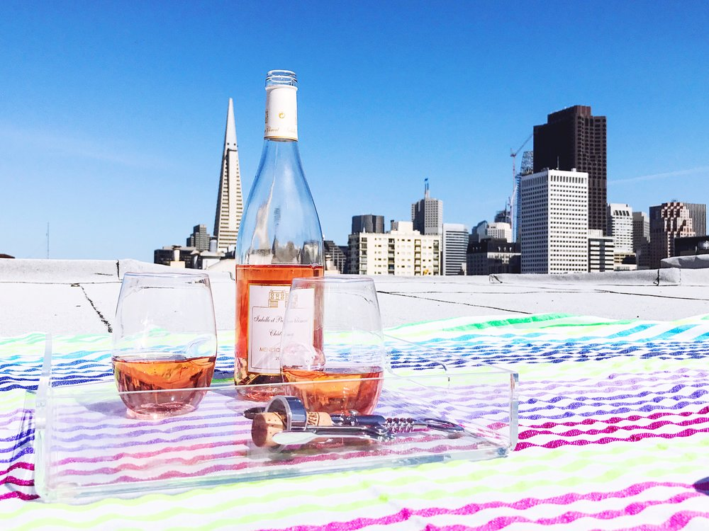 rooftop rose picnic