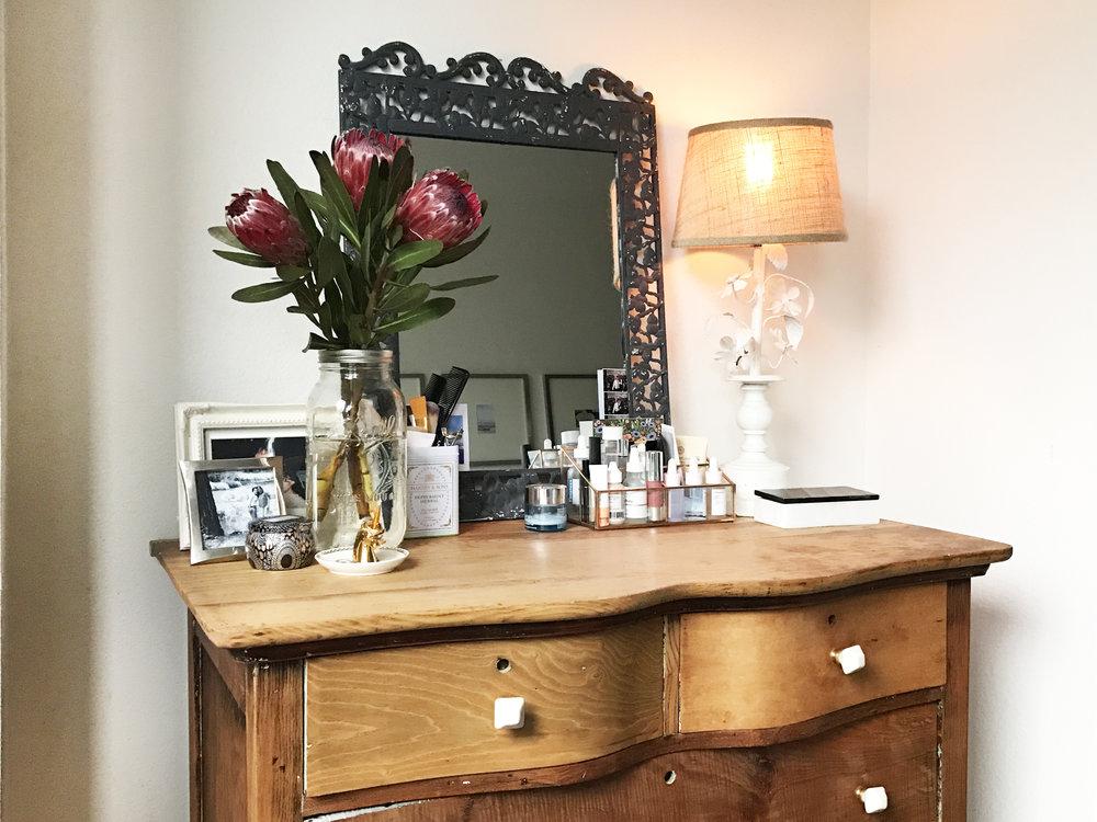boho bedroom neutral modern styling