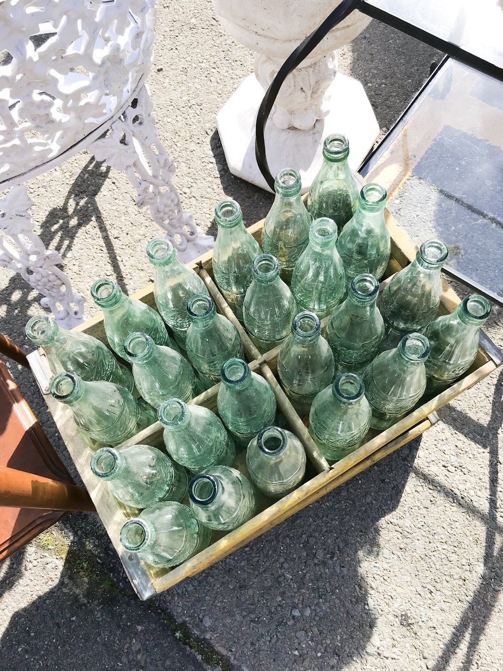 antique bottles flea market farmhouse style