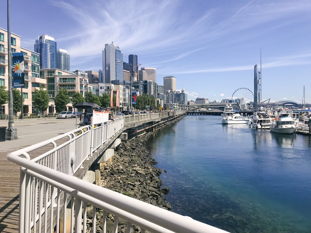 seattle waterfront exploration biking lime bike