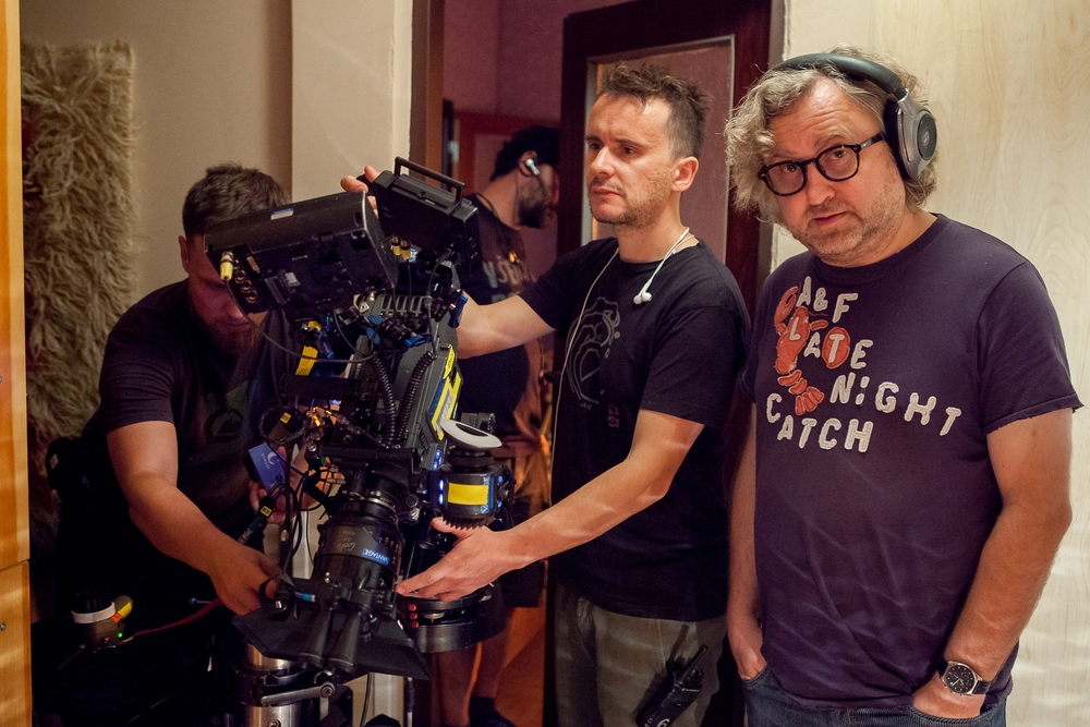 The Teacher film shooting (from the right):  Jan Hřebejk  (Director) with  Martin Žiaran  (DOP). Photo by PubRes, 2015.