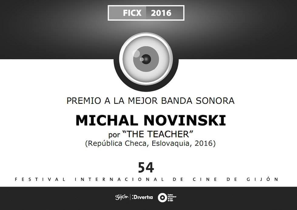 Cenu za najlepší pôvodný soundtrack pre film Učiteľka získal skladateľ hudby k filmu Michal Novinski.
