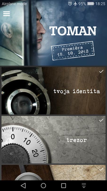 Hra Toman - Zahrajte sa na špióna. Mobilnú aplikáciu aj s historickými súvislosťami nájdete na Google Play.
