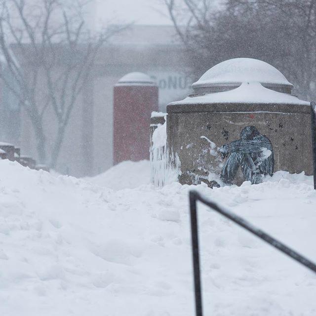 Blizzard in Boston part 2. #blizzard #snow