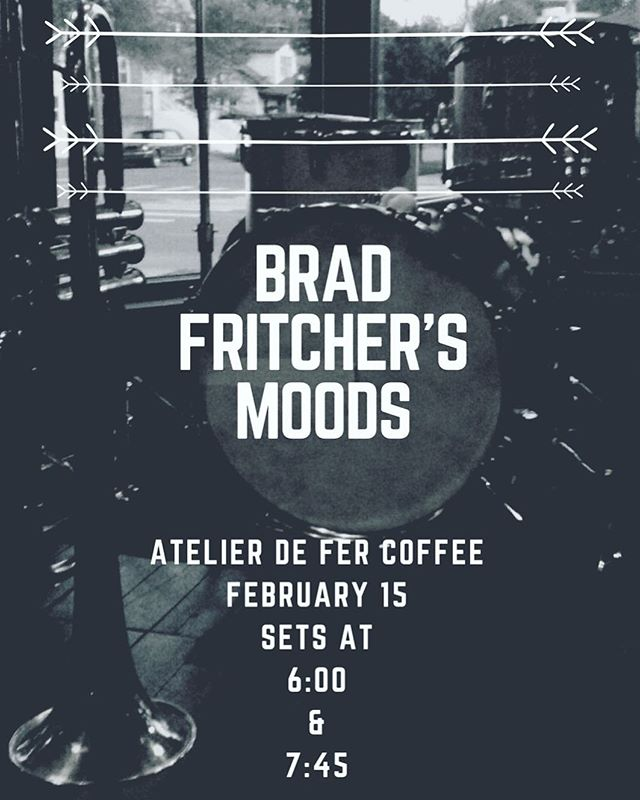 February 15 #MOODS returns to @defercoffeeandtea  Catch a seat by 6 and stay for the hang #weekendvibes #pghcreative #pghjazz #pgh #defercoffeeandtea #thestripdistrict #modern #trio