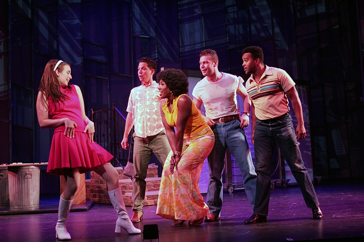 Effie Aardema, Kevin Santos, Crystal Lucas-Perry, Keven Quillon and Jeremy Gaston in Goodspeeds A Sign of the Times. (c)Diane Sobolewski..jpg