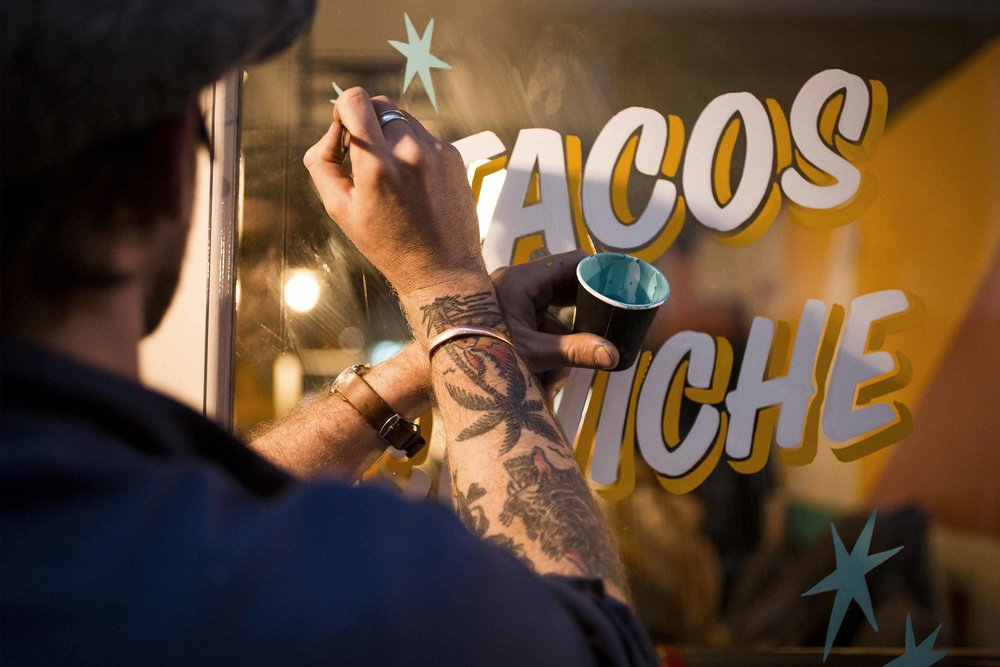 ged palmer sign painting casual breddos tacos