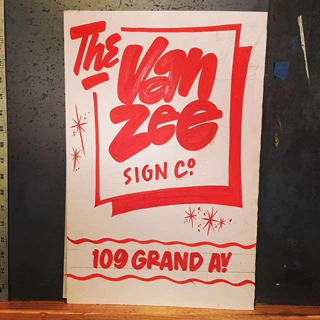 A quick paper sign for our talented friends at @vanzeesignco in Brooklyn, New York. From a visit in December 2018