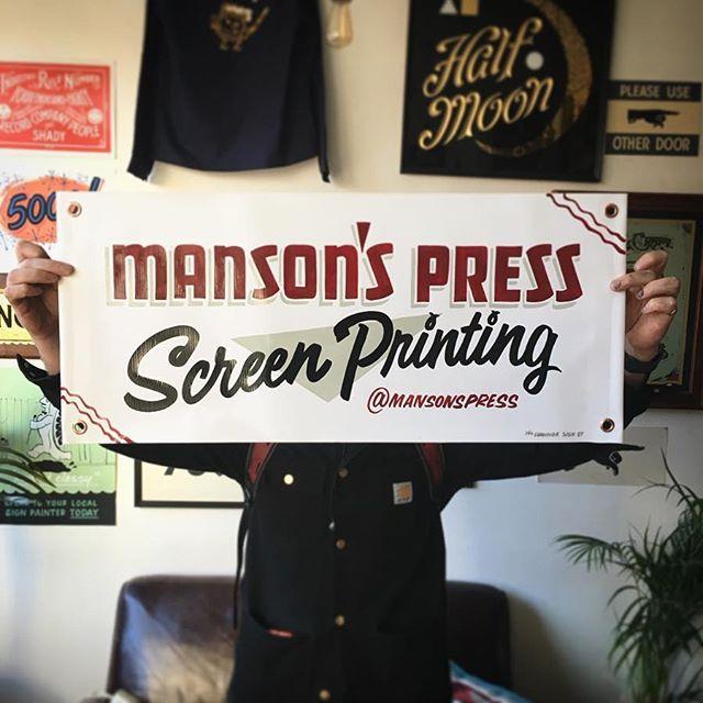 Fun little banner for @mansonspress