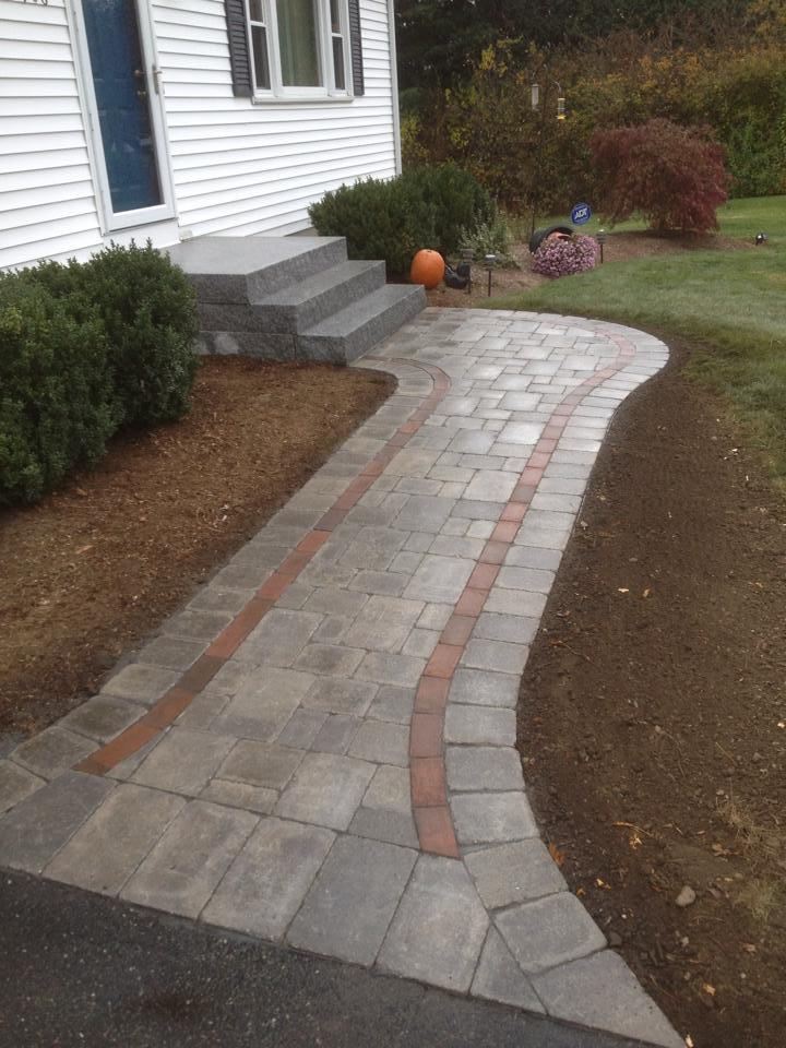 Paver Walkway & Granite Steps