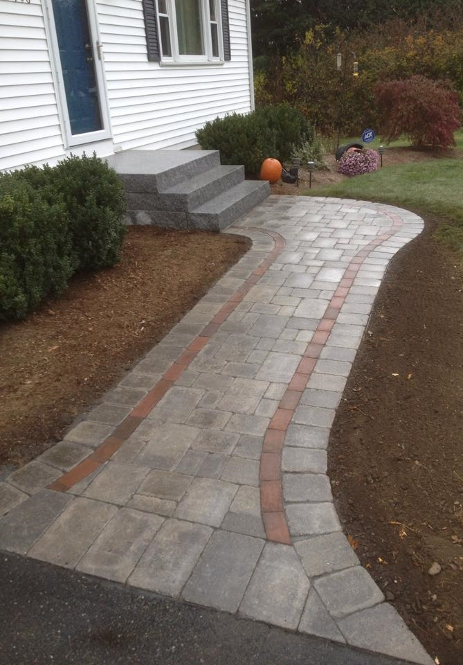Granite Steps & Paver Walkway