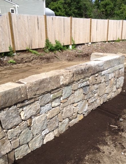 Choate Park Granite Retaining Wall
