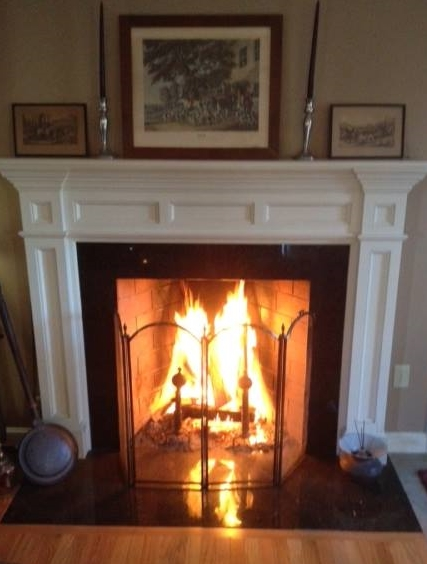 Rumford style fireplace