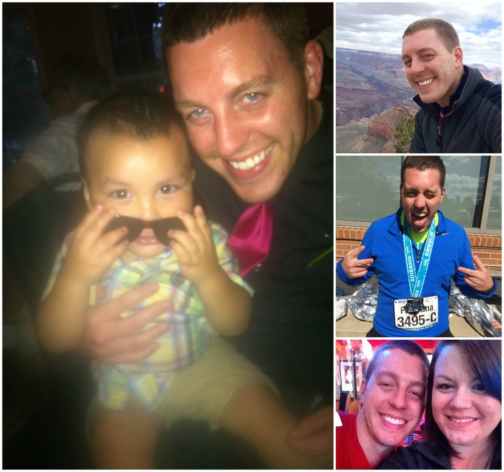 Dr. Overmire with nephew, in Grand Canyon, after his 1st marathon, and with his sister.