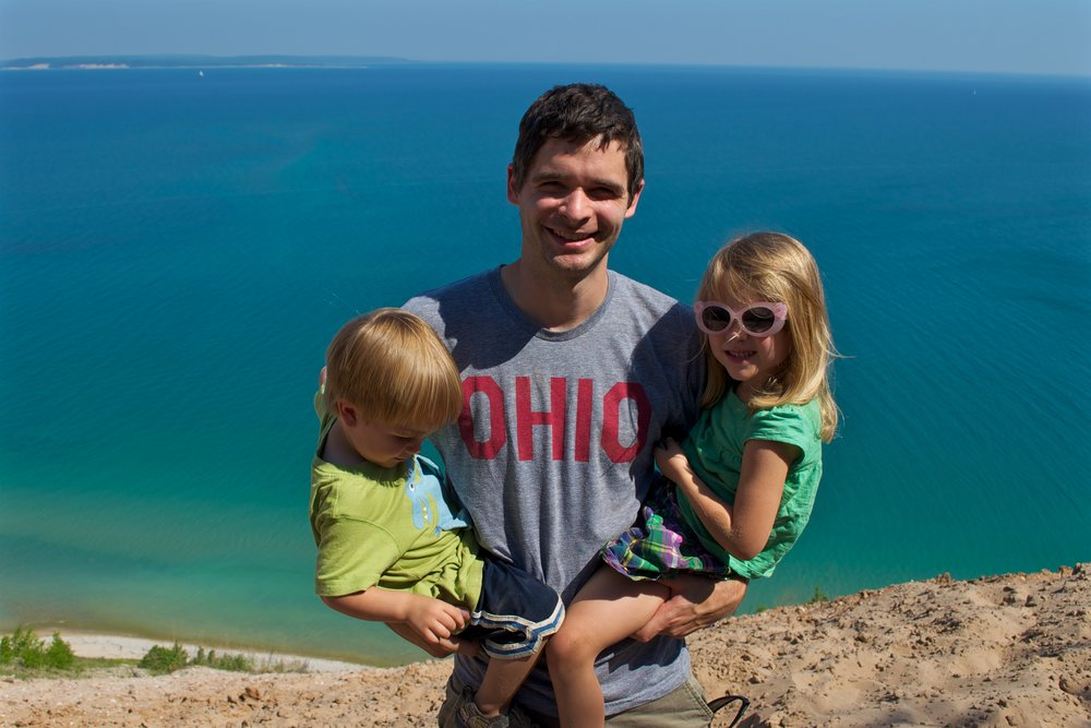 Mike Johansen, MD, pictured with his two children.