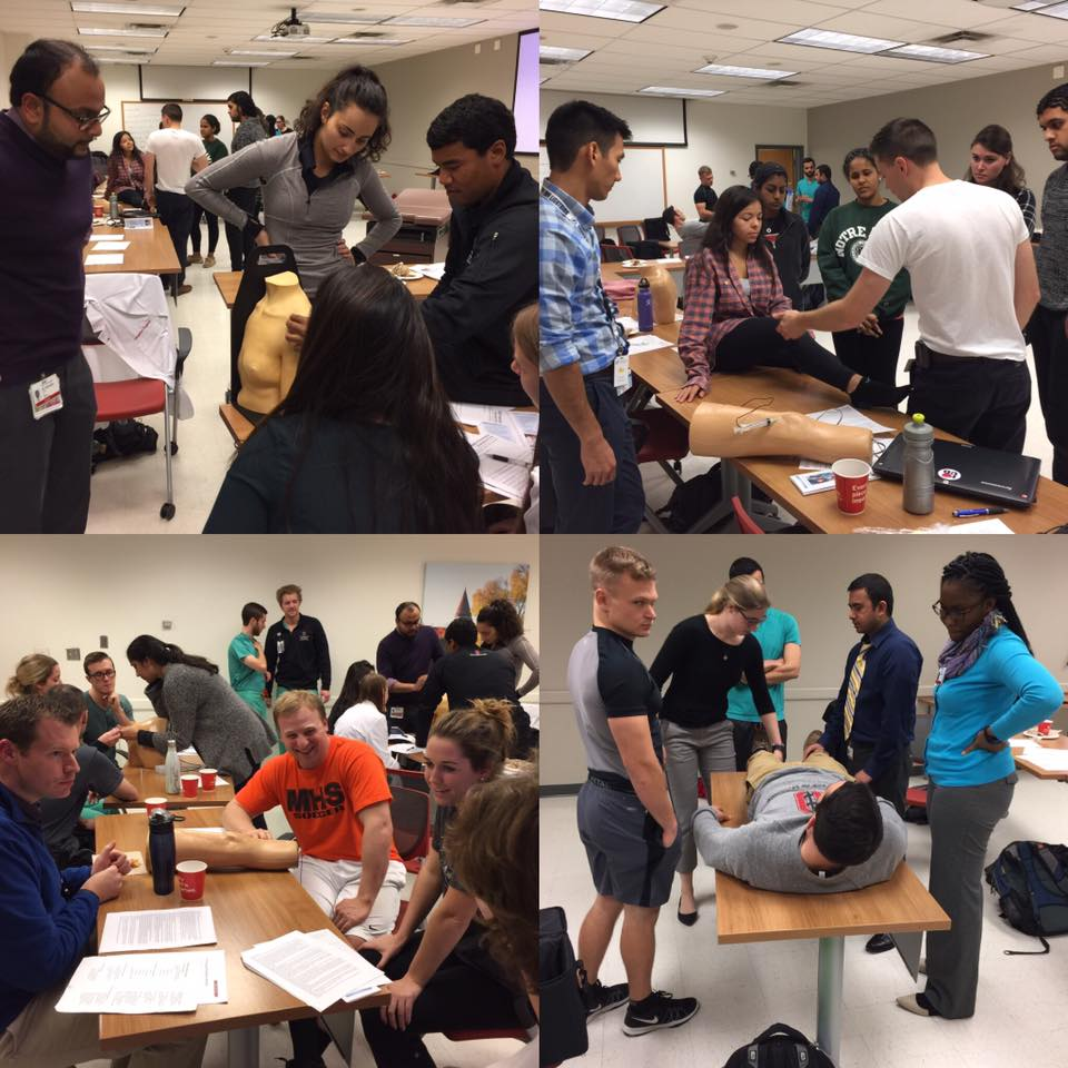 Grant residents and faculty taught a Joint Injection workshop for the Ohio State FMIG on 11/16!