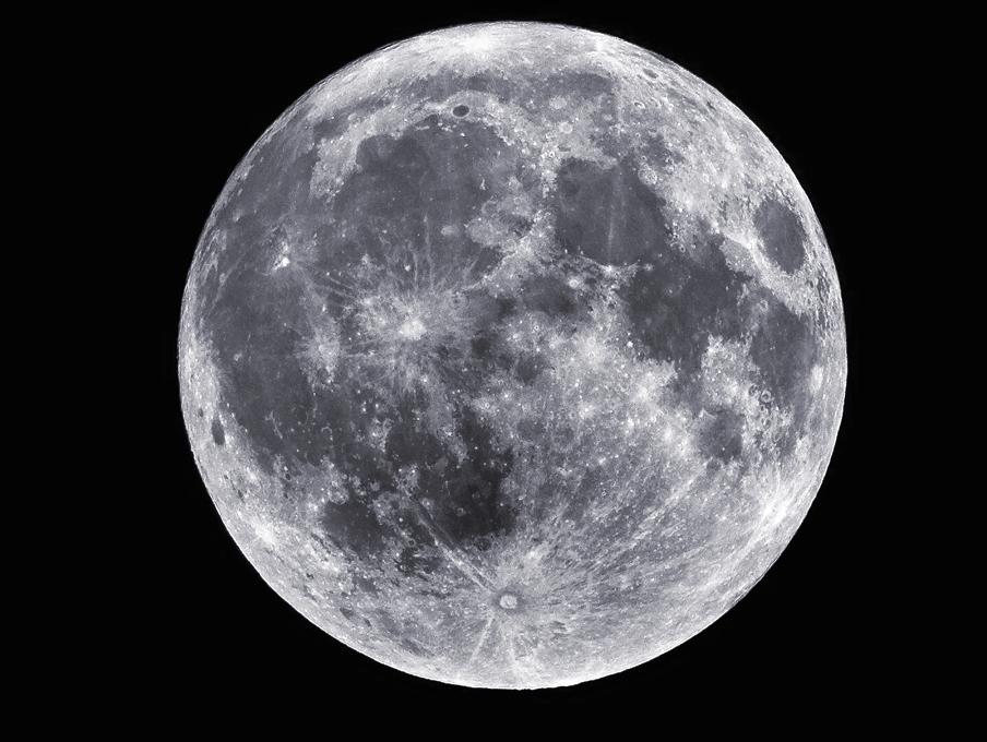 Luna llena. Foto: NASA/Sean Smith.