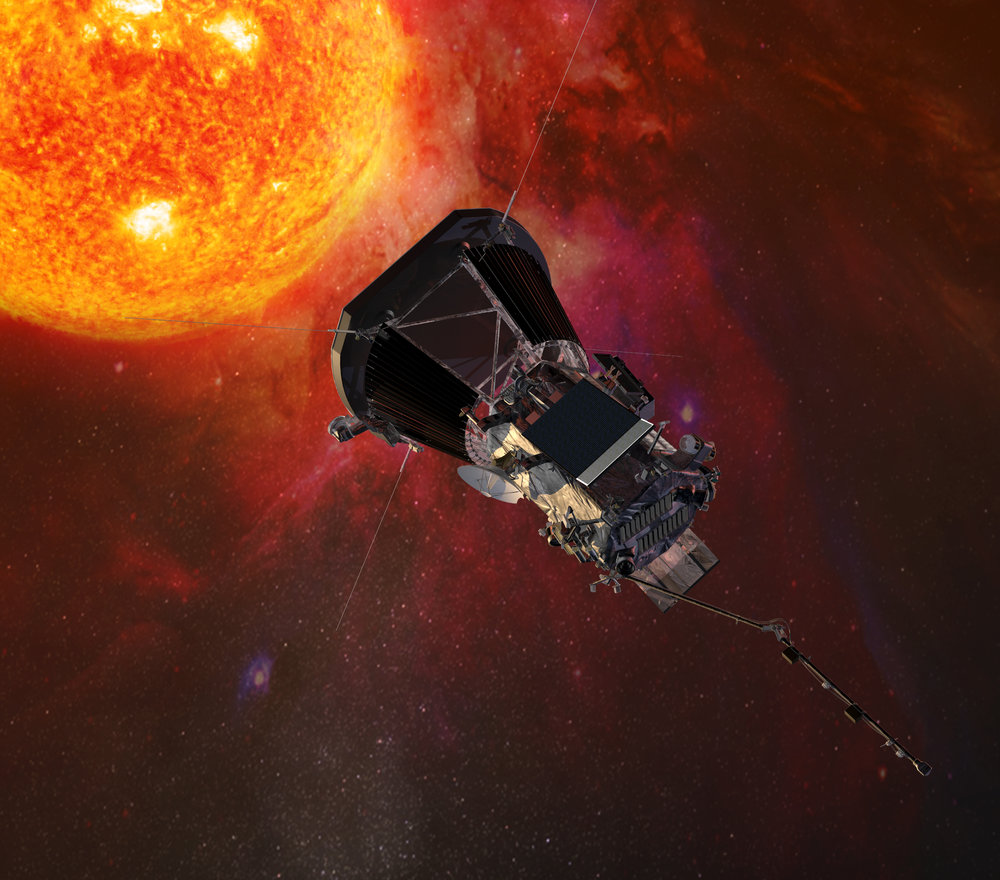 Ilustración de la Parker Solar Probe. Crédito: Johns Hopkins University Applied Physics Laboratory