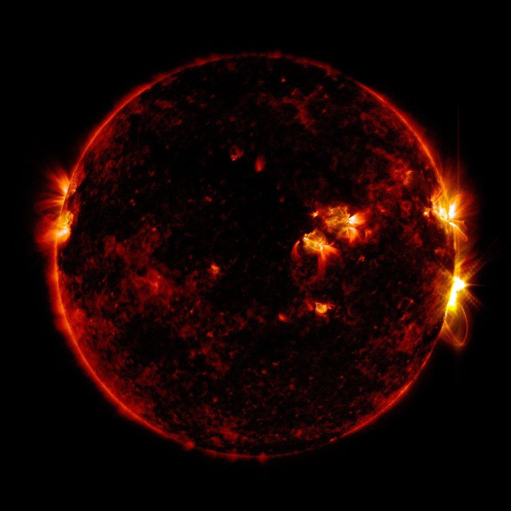 Llamarada solar del 10 de Septiembre de 2017 vista por todo el espectro de onda del Observatorio de Dinámica Solar de NASA. Crédito: NASA/GSFC/SDO