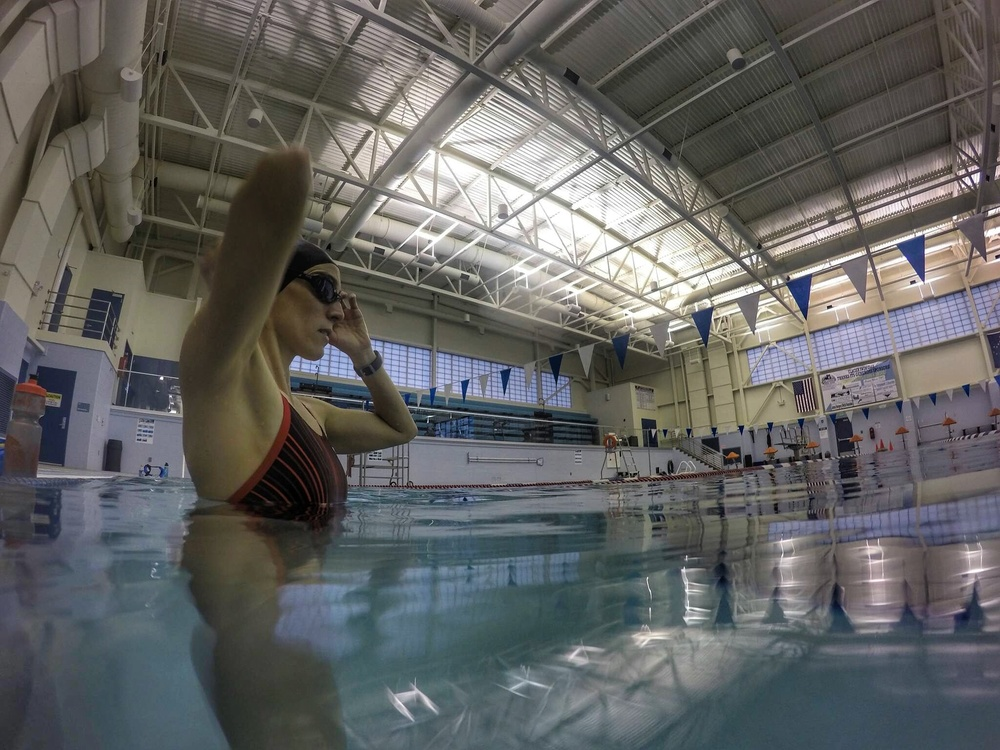 Here I am at the Dimond Park Aquatic Center in Juneau, AK.
