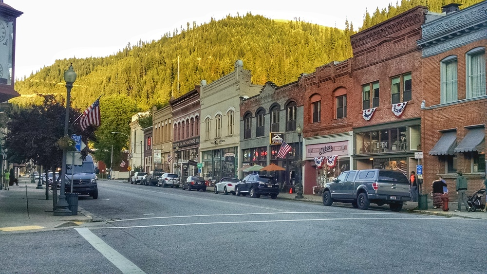 We couldn't resist stopping in this cool old mining town on our way to Glacier. This is Wallace, ID, just outside CDA.