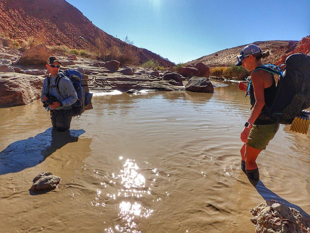 More deep river crossings
