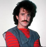 The aforementioned artist himself, Matthew Wilder. Yep, it was legal to look this cool back in the day!