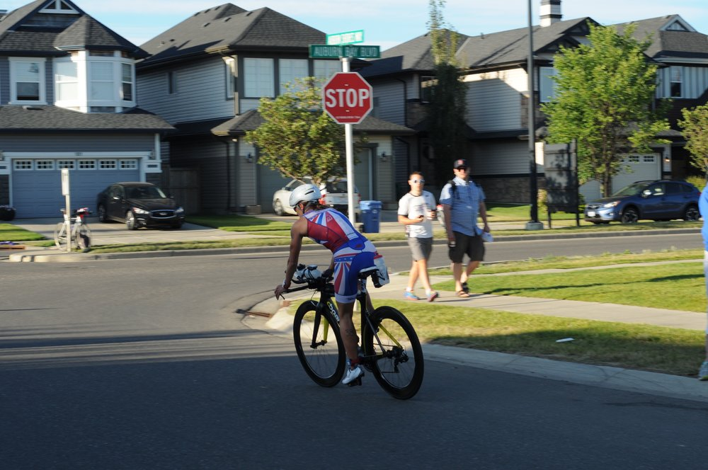 Heading out onto the bike course at Calgary 70.3