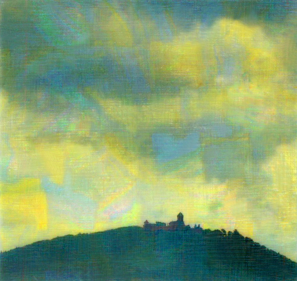 """Castle,"" alternative process photo, 34 X 36 in., © 2017 Bill Travis"