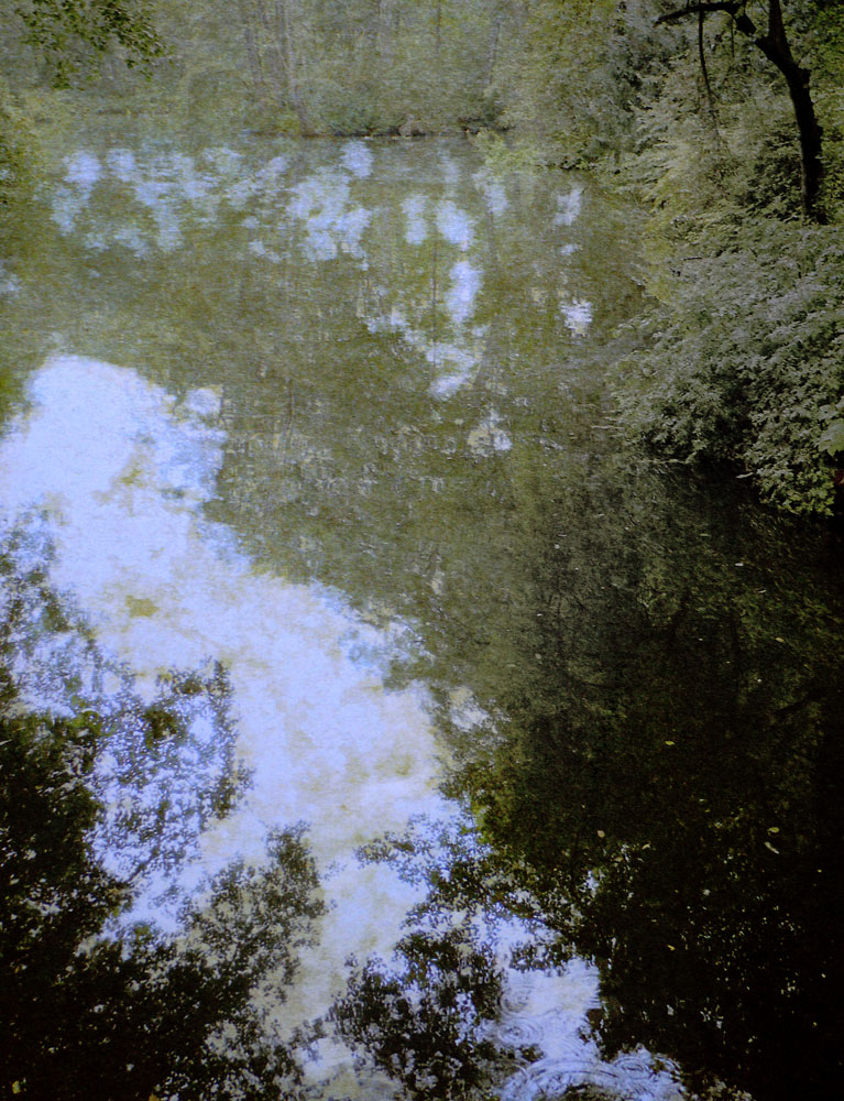 """Reflection,"" alternative process photo, 44X 34 X in., © 2017 Bill Travis"