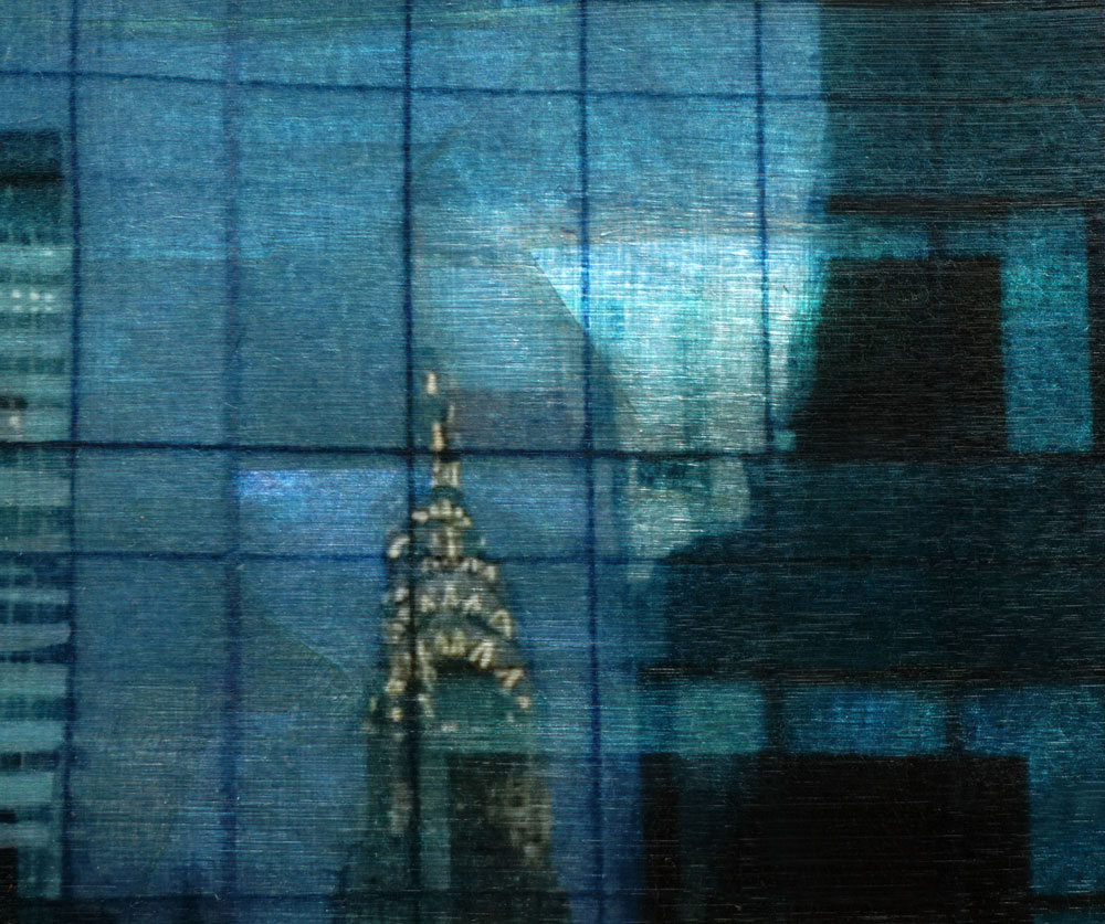 """Chrysler Building,"" alternative process photo, 34 X 40 ½ in., © 2018 Bill Travis"