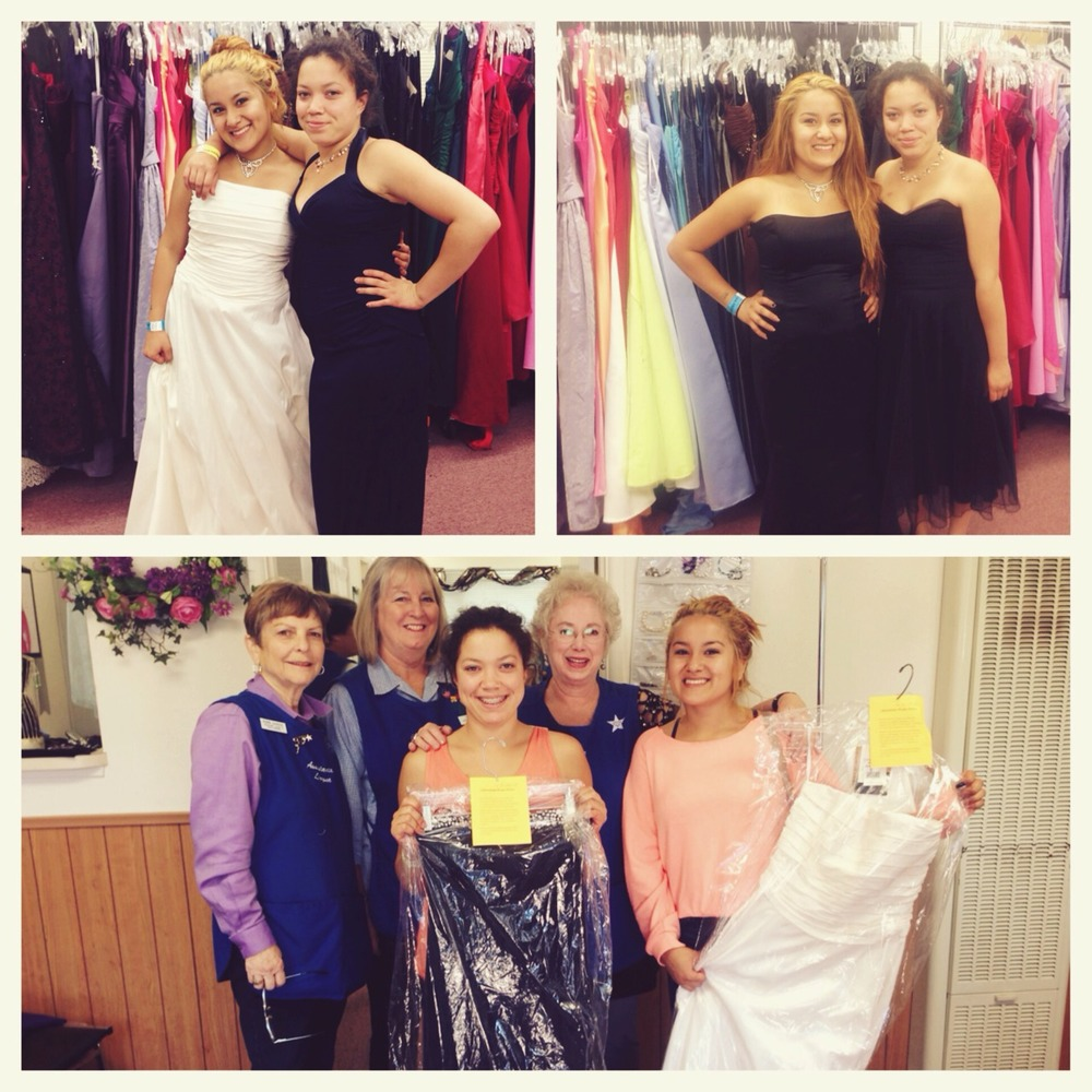 Don't they look beautiful?! We took Aliyah and Keery dress shopping yesterday for their upcoming prom. Major gratitude to the assistance league for hooking the girls up with two free dresses! They are so incredibly stoked to be able to go to prom and be the gorgeous women that they are! The girls need to raise $75 a piece for their tickets and they'll be dancing the night away!    Check out more about the Assistance League of Santa Barbara here:   http://www.assistanceleaguesb.org/