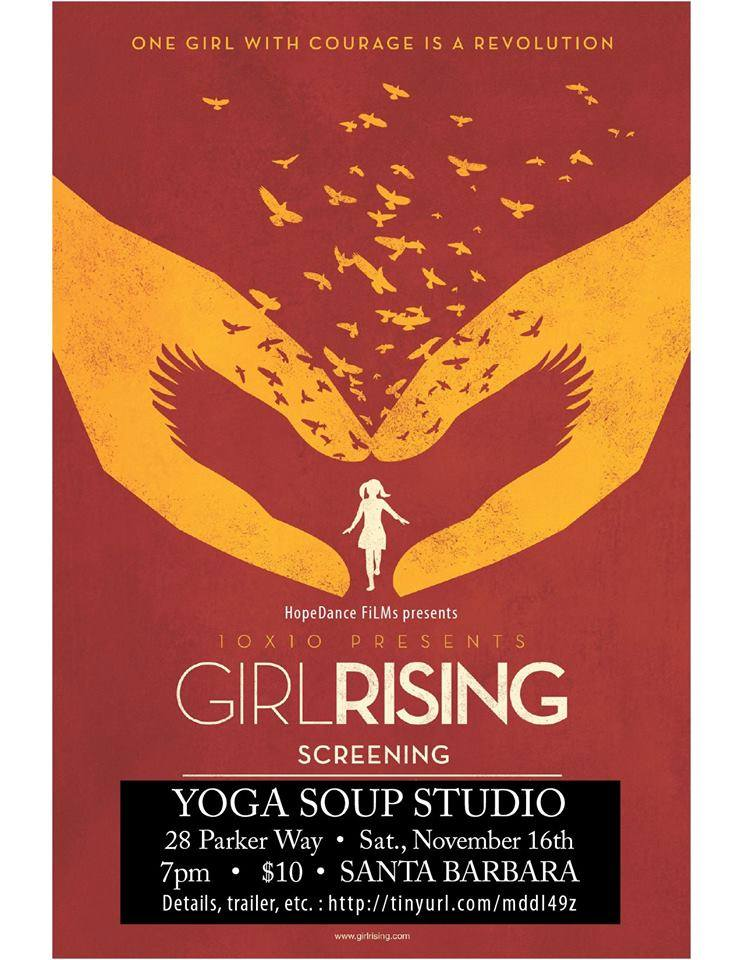 Youth Interactive's CEO, Nathalie Gensac, will be speaking on a panel after the showing of this amazing film - Come and join the conversation! This Saturday, November 16th, at 7 pm   #girlrising #screening #discussion #panel #hopedancefilms #santabarbara #youthinteractive