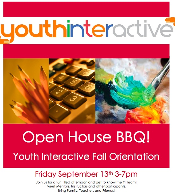YOUTH INTERACTIVE IS NOW ENROLLING FOR FALL 2013! Hurry… Not many places left …. to join us this fall contact: Emily Griffith -  e.youthinteractive@gmail.com