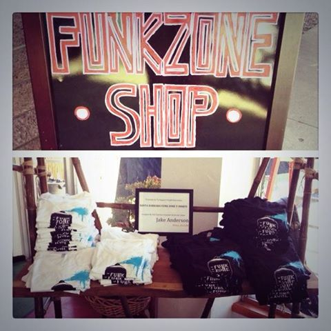 Support youth and art in our community …. Don't forget your official tshirts from the funk zone shop available for the rest of the year at our shop!!