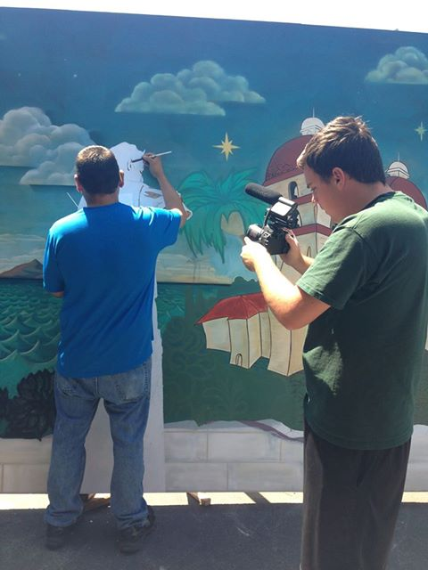 The Good News Team has also been hard at work covering the mural project and creating their own visual addition for the big event!