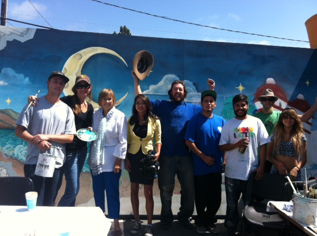 What a Tuesday morning at Youth Interactive! Ginny Brush and Lucidity partners come to visit and are interviewed by KCOY TV!  Tonight on Channel 12 at 5pm  check out The Youth Interactive Outsider Youth Art Mural Project