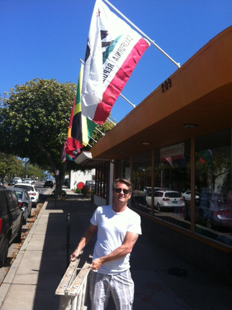 Houraa Youth Interactive has new vibrant flags !!! A BIG thank YOU to our volunteer extraordinaire Dale Dewey !!!