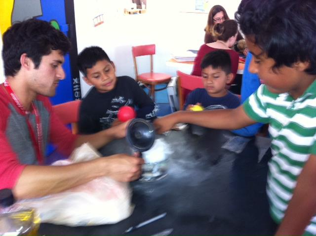 More action shots from Youth Interactive Science Experiments - Day 1: Fun with Dry Ice