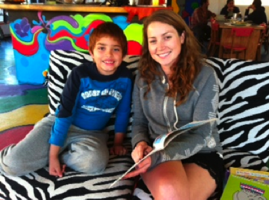 Little Brian Sanchez came to us not knowing how to read. Now, he is working one-on-one with volunteer Emily Griffith to improve his English. Working together, the duo's lives are both enriched!