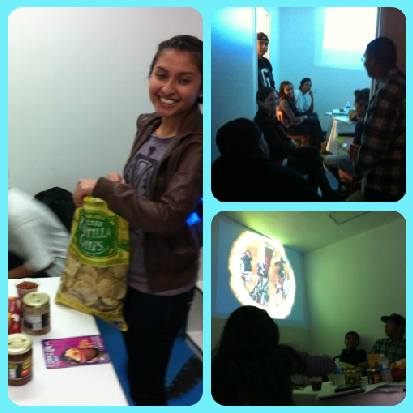 The last Mayan class of the year took place last night at Youth Interactive. After the lesson, the students took in a film on Mayan art, and finished the night with a chips and salsa party. We look forward to starting again in 2013!